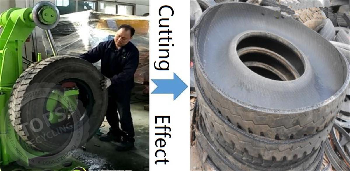 disposed tire cutting machine