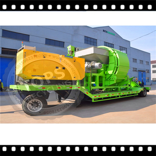 Mobile Tire Recycling Shredder Machine