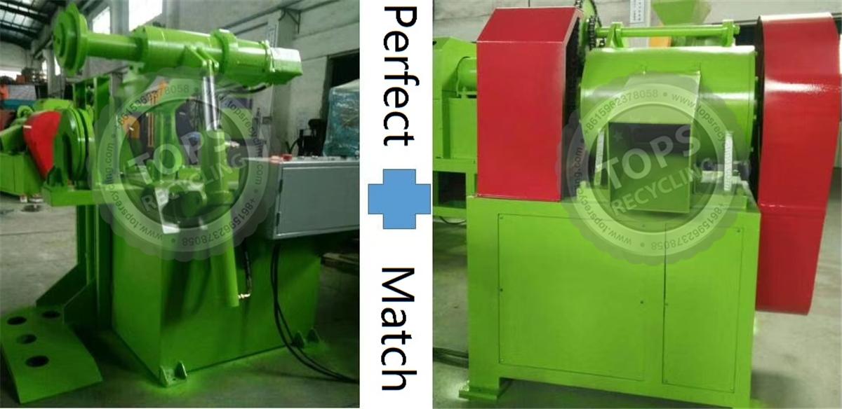 máquina de corte de neumáticos desechables